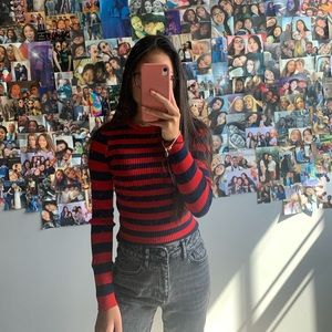 forever 21 red/blue striped sweater
